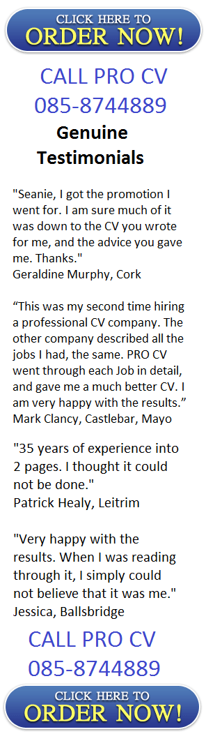Professional cv writing service cork